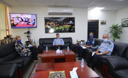 اللواء حازم عطا الله مدير عام الشرطة يبحث سبل التعاون مع رئيسة بعثة الشرطة الأوروبية