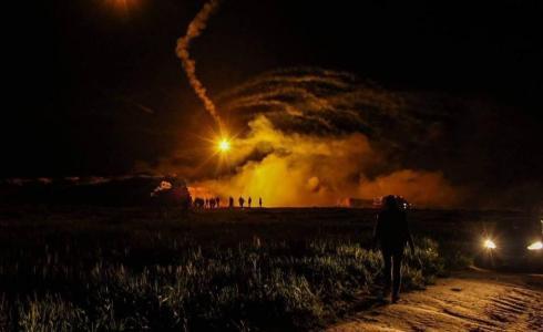 الارباك الليلي شرق غزة -ارشيف