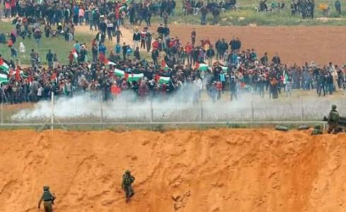 مسيرة العودة الكبرى شرق قطاع غزة- توضيحية
