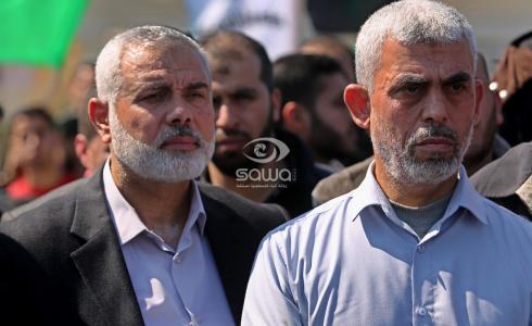 اسماعيل هنية ويحيى السنوار -قادة حماس في غزة-