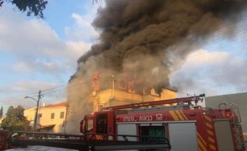 اندلاع حريق في شقة سكنية