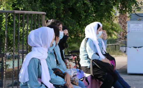 طلاب مدرسة فلسطينية