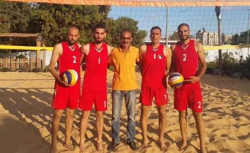 منتخب كرة الطائرة الشاطئية من غزة يستعد للبطولة العربية في المغرب