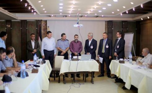 وزارة الداخلية بغزة والصليب الأحمر ينظمان ورشة عمل حول المعايير الدولية للعمل الشُرطي