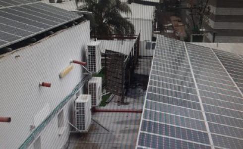 حريق في فرع الجامعة المفتوحة بعكا