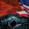العلم الأمريكي والصيني