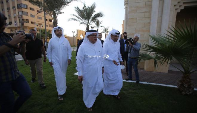 السفير القطري محمد العمادي في غزة اليوم