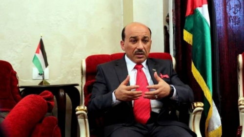 الحساينة يناقش مع مسؤول دولي مستجدات عملية اعمار غزة