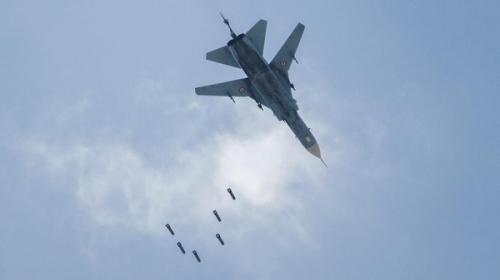 طائرة مقاتلة تابعة للنظام السوري