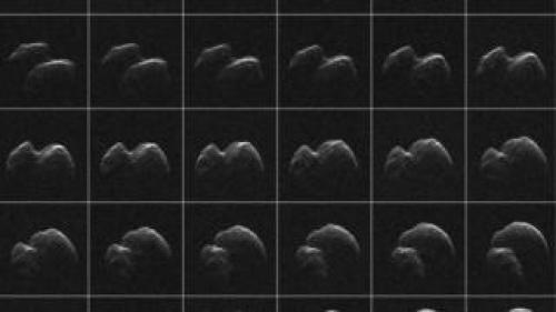 الصور التي التقطتها الناسا للكويكب الذي مر بمحاذاة الأرض