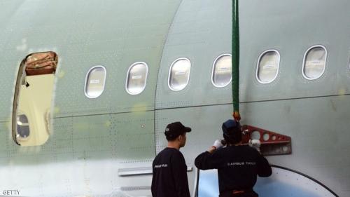 الطائرة طليت بألوان شركة إيران للطيران
