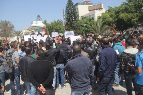 جانب من الاعتصام( عدسة: محمد سلاّم)