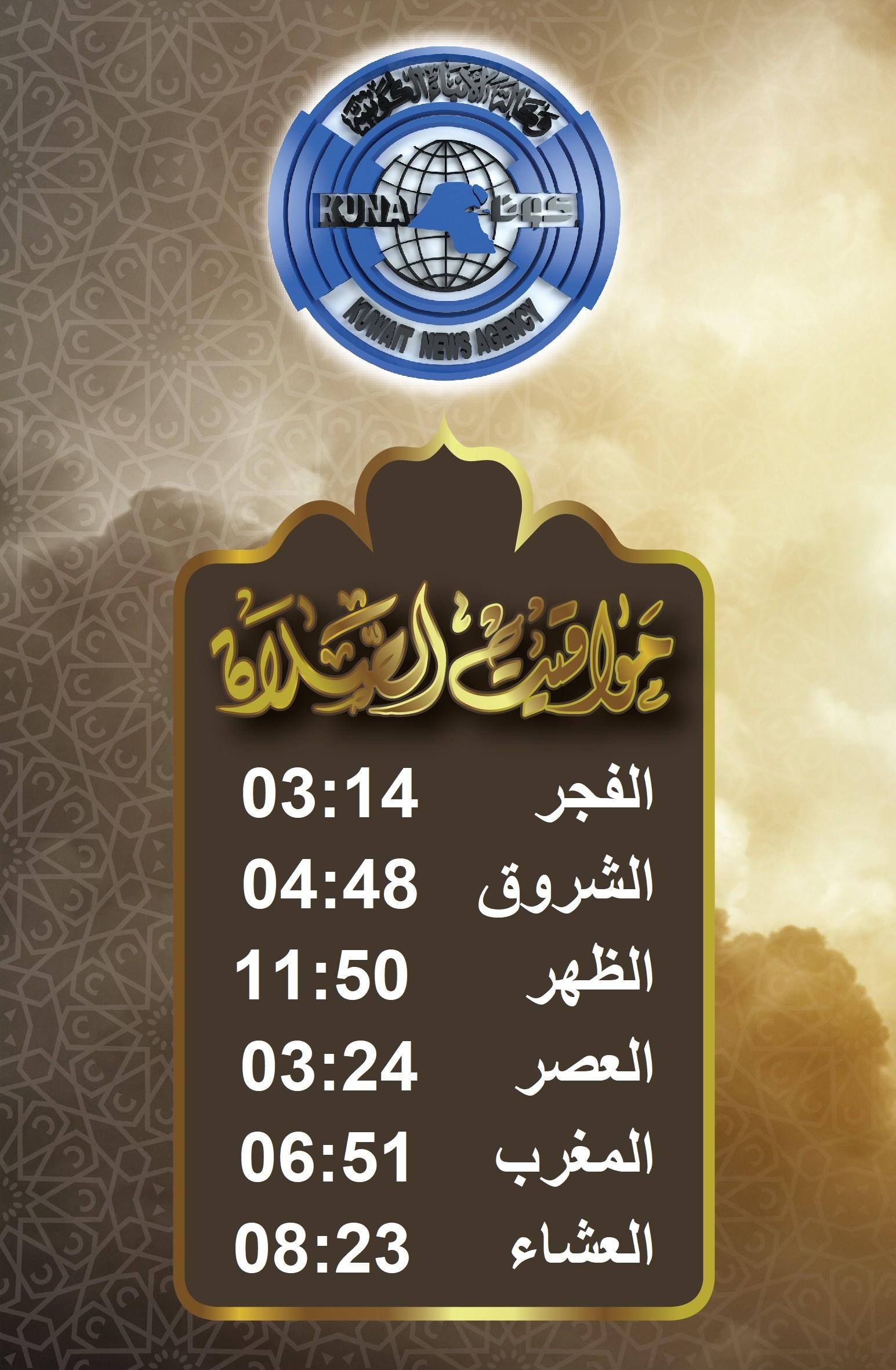 وقت اذان صلاة المغرب الكويت 2